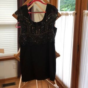 Grey Sequin and Knit Dess